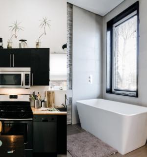 washroom and kitchen